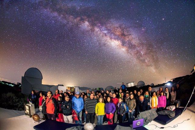 Profesorado participante en la edición de 2016 en el Observatorio del Teide