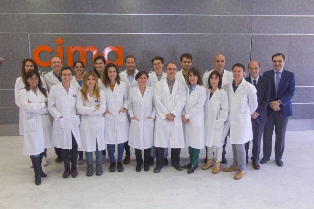 Investigadores del CIMA en el proyecto Vivet con Gloria González Aseguinolaza.