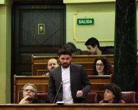 ERC cambia su pregunta para que Rajoy se pronuncie mañana en el Congreso sobre las colas en el Prat