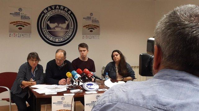 Presentación de una Gran Recogida del Banco de Alimentos de Navarra.