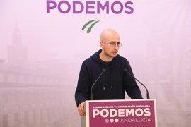 """Podemos: La Junta """"usa medios públicos al servicio"""" de la campaña de Susana Díaz en las primarias"""