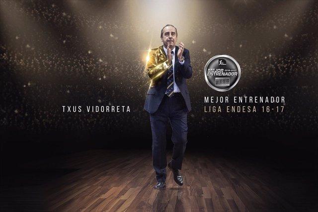 Txus Vidorreta, mejor entrenador de la Liga Endesa