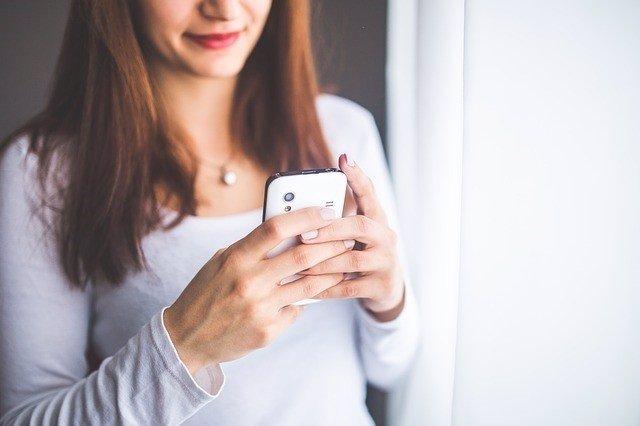 Movil, chica, joven, tecnologia, smartphone