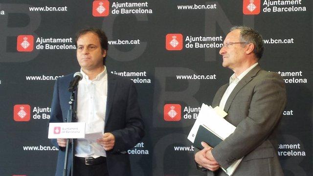 Teniente de alcalde de Barcelona Jaume Asens, gerente de Recursos Joan Llinares