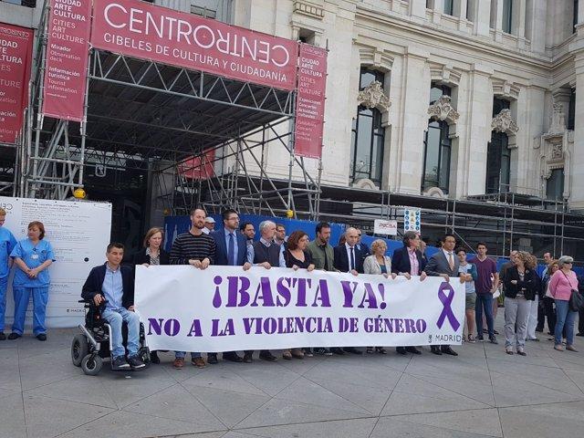 Concentración contra la violencia machista