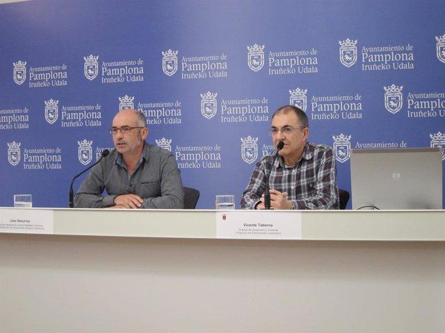 Joxe Abaurrea y  Vicente Taberna