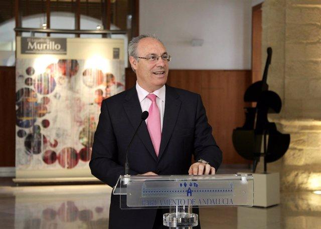 Juan Pablo Durán inaugura en el Parlamento una muestra sobre Murillo