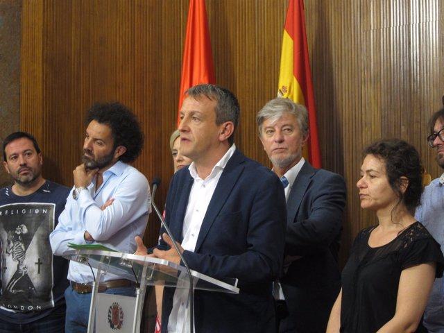 Rivarés y Santisteve, este martes en su comparecencia en el Ayuntamiento
