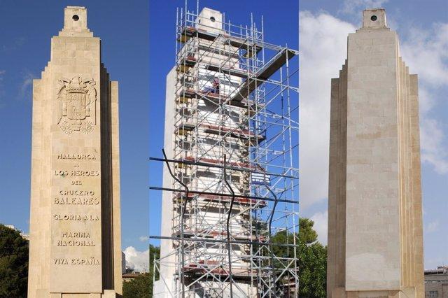 Monumento de Sa Feixina, antes y después de su adecuación