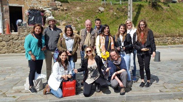 Blogueros internacionales en su visita a Cantabria