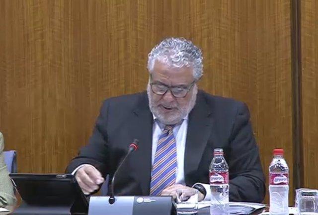 Joaquín Durán comparece en la comisión de control de la RTVA en el Parlamento