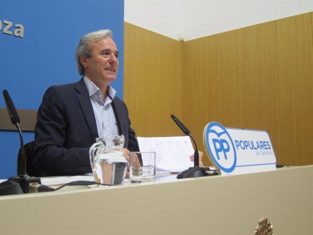 El concejal Jorge Azcón (PP)