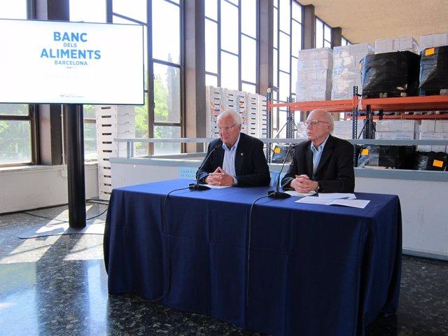 El pte.De la Fund.Banc dels Aliments E.Arruga y el director L.Fatjó-Vilas