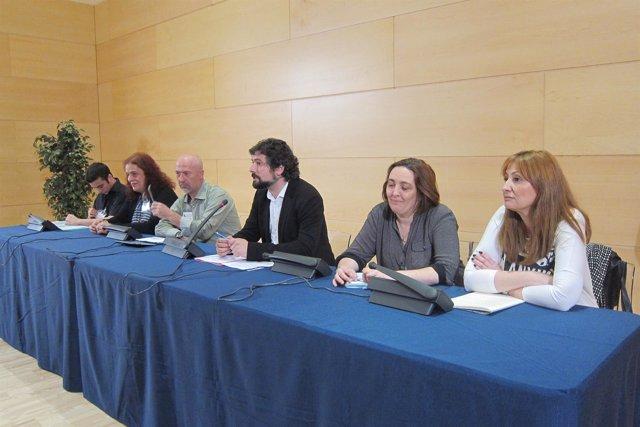 Valladolid. Sarrión en la presentación de la iniciativa
