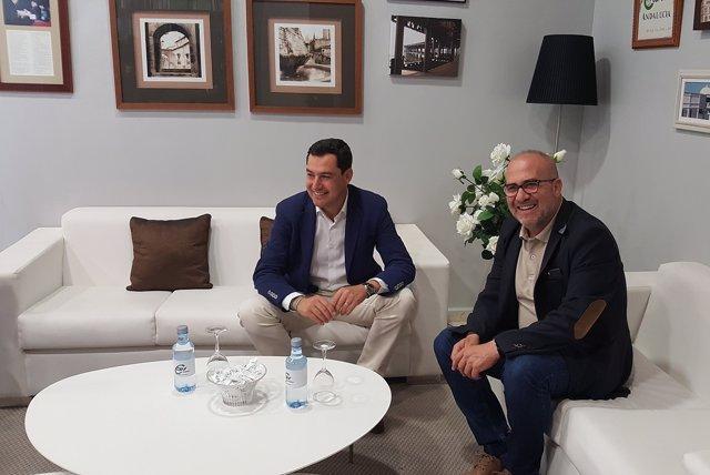 Reunión entre Juanma Moreno y José Luis Heredia