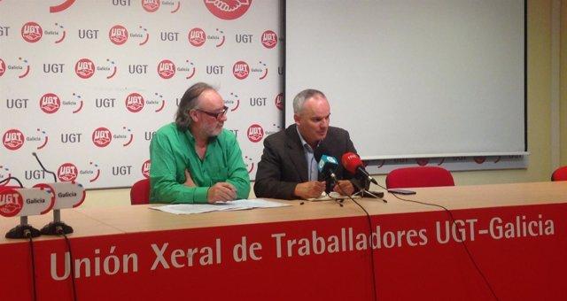 José Antonio Diéguez (Ventonoso) y Jacobo Feijóo (UU.AA.) en rueda de prensa