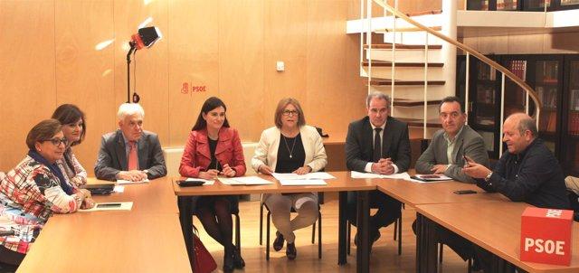 Psoe Congreso. Reunión Gps Con Carmen Montón, Consejera Valenciana De Sanidad (+