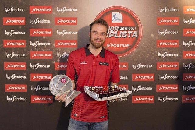 Martynas Gecevicius, mejor triplista de la Liga Endesa