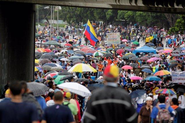 Manifestación contra el Gobierno en Caracas