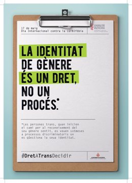 Cartel del Ayuntamiento por el Día contra la LGTBIfóbia