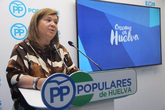 La parlamentaria andaluza por el PP de Huelva Carmen Céspedes.