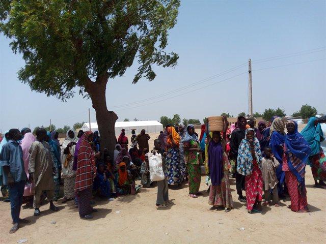 Personas desplazadas retornadas en Dikwa (Nigeria)