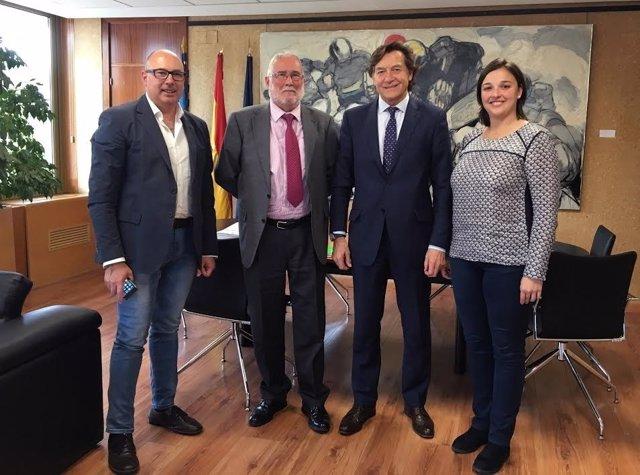 Reunión Ruiz con secretario estado Deporte