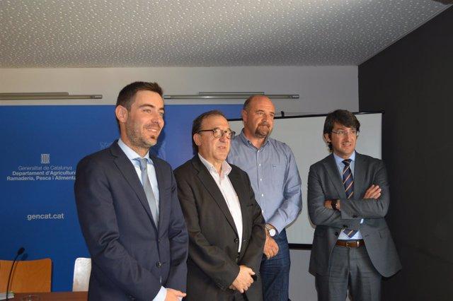 Ferran de Noguera, Carmel Mòdol, Francesc Torres y Manel Simon