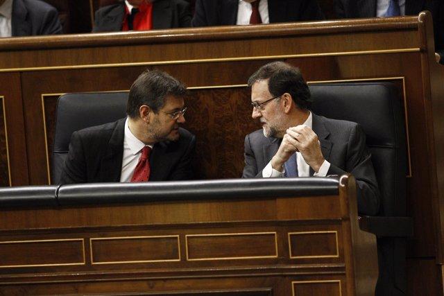 Rafael Catalá y Mariano Rajoy