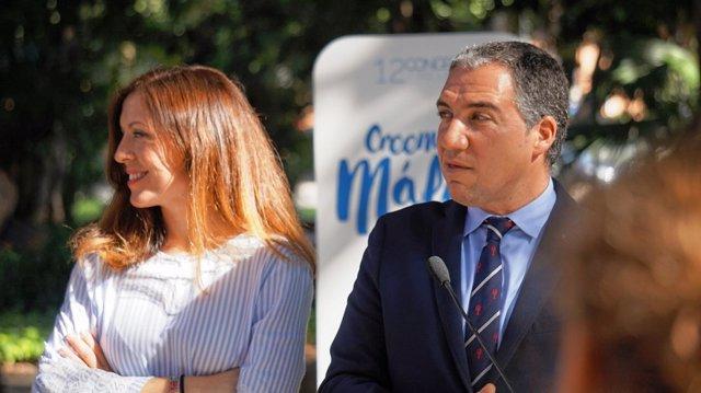 Elías Bendodo en un acto, presidente del PP de Málaga
