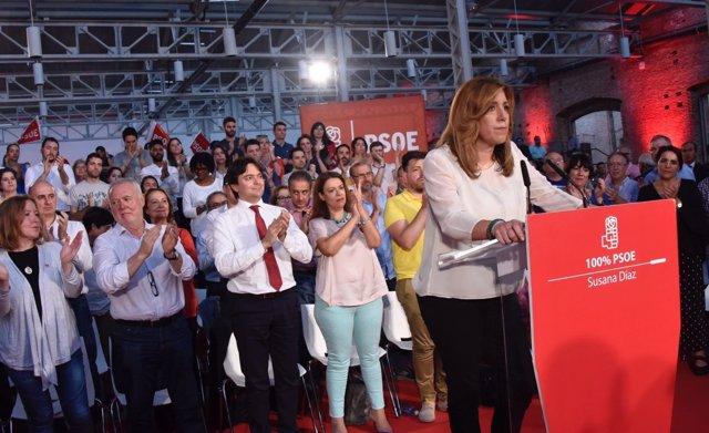Susana Díaz, en un acto en Madrid