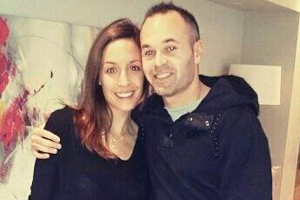 Andrés Iniesta y Ana Ortiz/ Foto de archivo