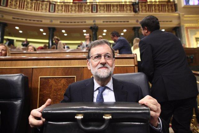 Mariano Rajoy en la sesión de control al Gobierno en el Congreso