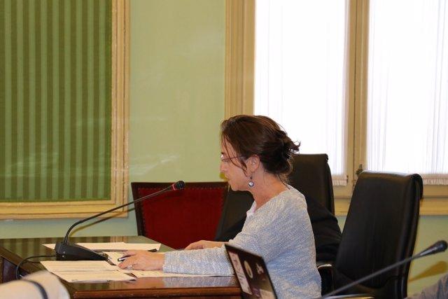 Olga Ballester (Cs) en la Comisión de Medio Ambiente del Parlament