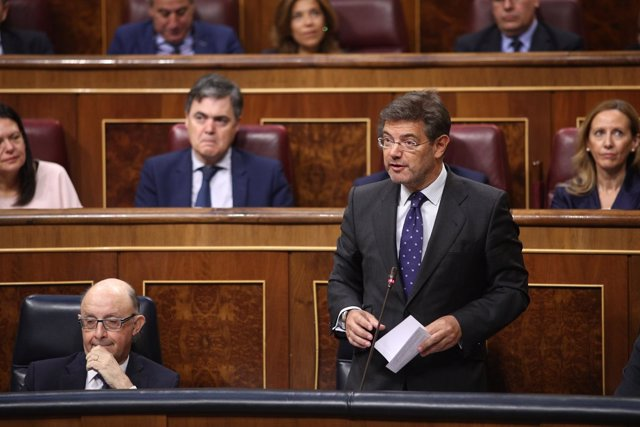 Rafael Catalá en la sesión de control al Gobierno en el Congreso