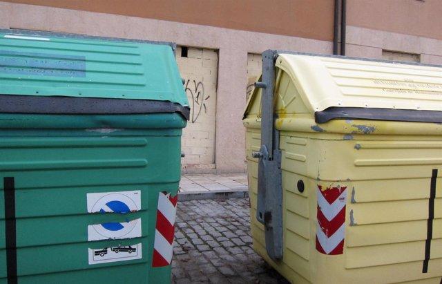 Contenedores de reciclaje en Salamanca.
