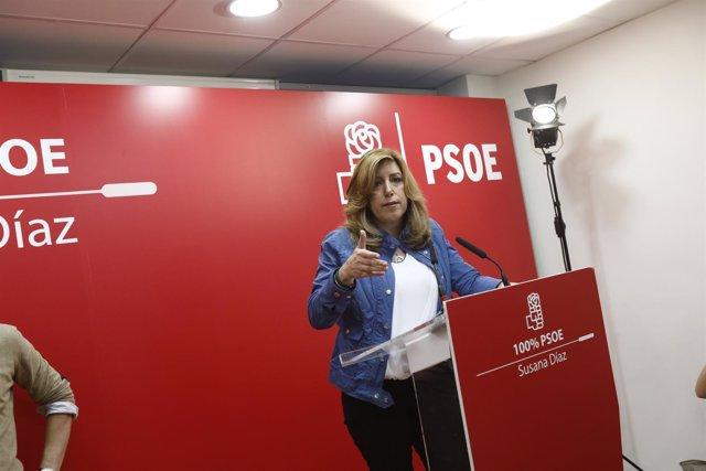 Susana Díaz presenta en Madrid su programa para las primarias