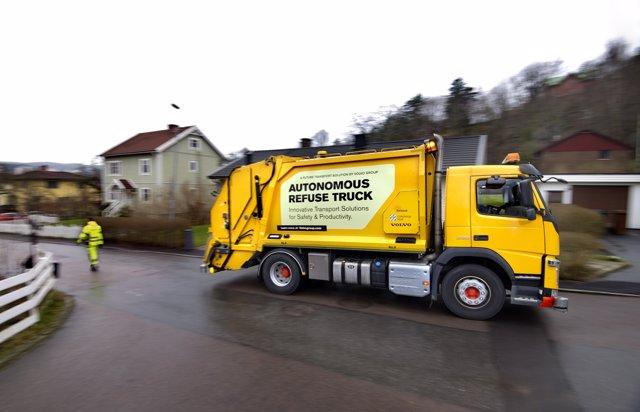 Camisón de basura autónomo de Volvo