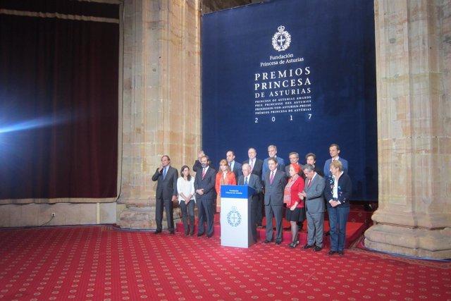 Jurados del Premio Princesa de Cooperación Internacional.