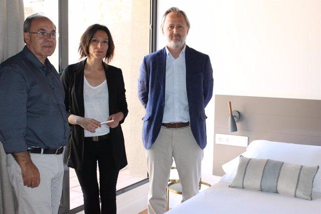 Lluís Parera, Àngela Galceran y Salvador Fuentes (ATA)