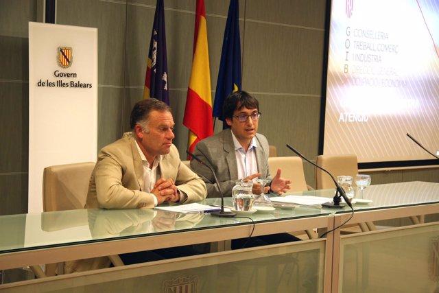 Negueruela y Pou en rueda de prensa