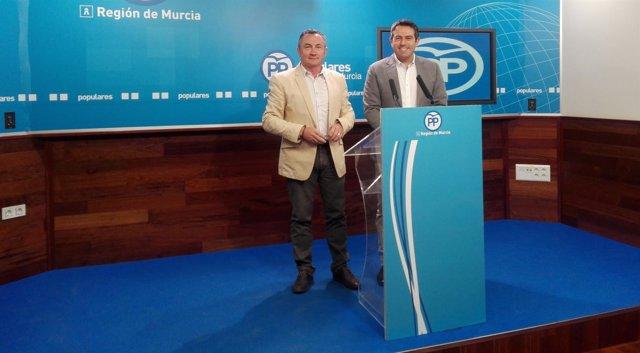 Soria y Buendía (PP) en rueda de prensa