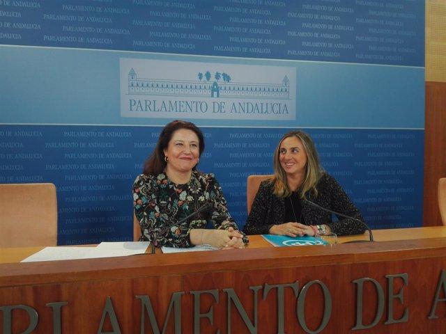 Carmen Crespo y Marifrán Carazo, hoy en rueda de prensa