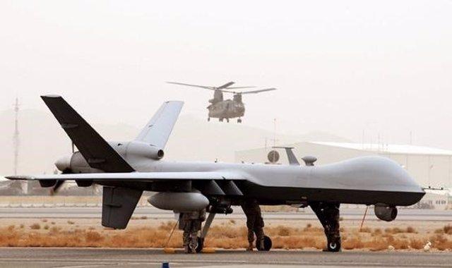 UAV Reaper de la Fuerza Aérea británica, en un despliegue en Afganistán