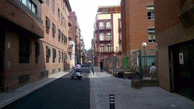 Así ha quedado la calle Trastámara.