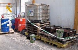 La Guardia Civil de Burgos denuncia a dos empresas por usar aceites residuales en la fabricación de pellet