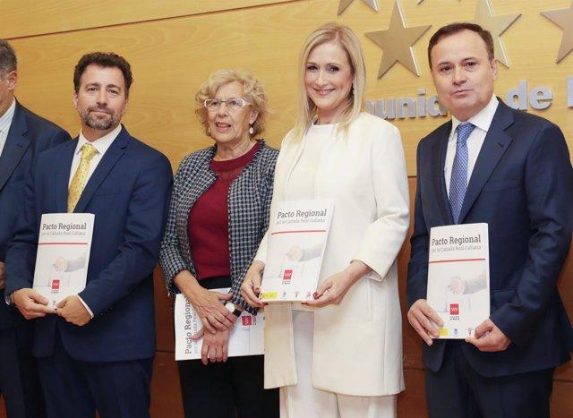 Cifuentes, Carmena y los alcaldes de Rivas y Coslada