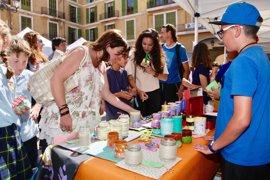 Más de 1.300 alumnos de Baleares exponen sus proyectos empresariales y solidarios en el mercado Icape de Palma