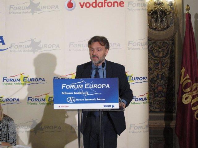 El consejero andaluz de Medio Ambiente, José Fiscal, en el Fórum Europa