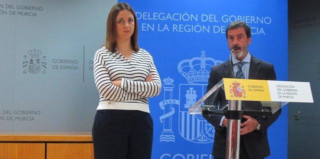 El delegado junto a Virginia Jérez